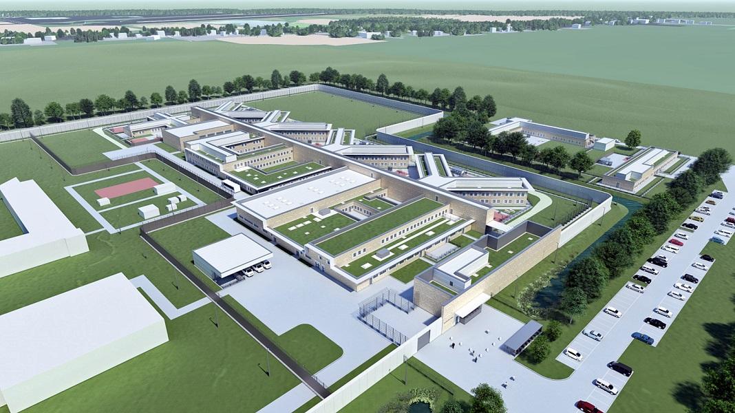 Ein Modell der geplanten Jugendhaftanstalt in Billwerder.