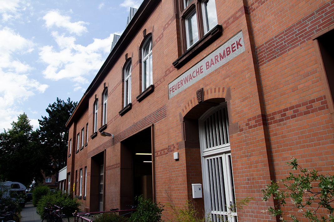 Die Welcome Werkstatt in der alten Feuerwache Barmbek. Foto: Max Nölke