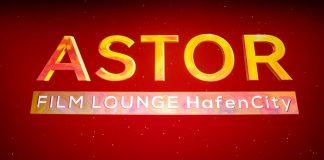 Schriftzug der Astor Film Lounge auf der Leinwand