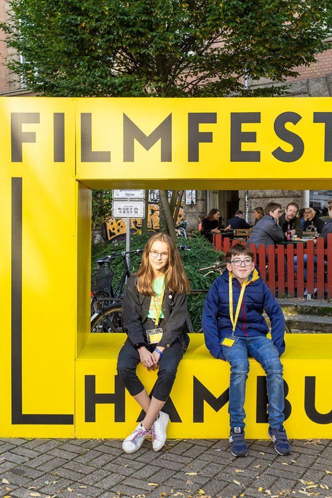 Helen und Noah sind als Michel Movie Kids fester Bestandteil des Filmfest Hamburg. Foto: Benjamin Eckert