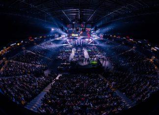 Blick über die volle Barclaycard Arena.