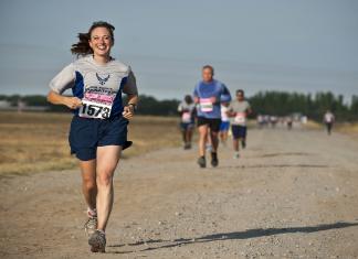Läufer bei einem Rennen