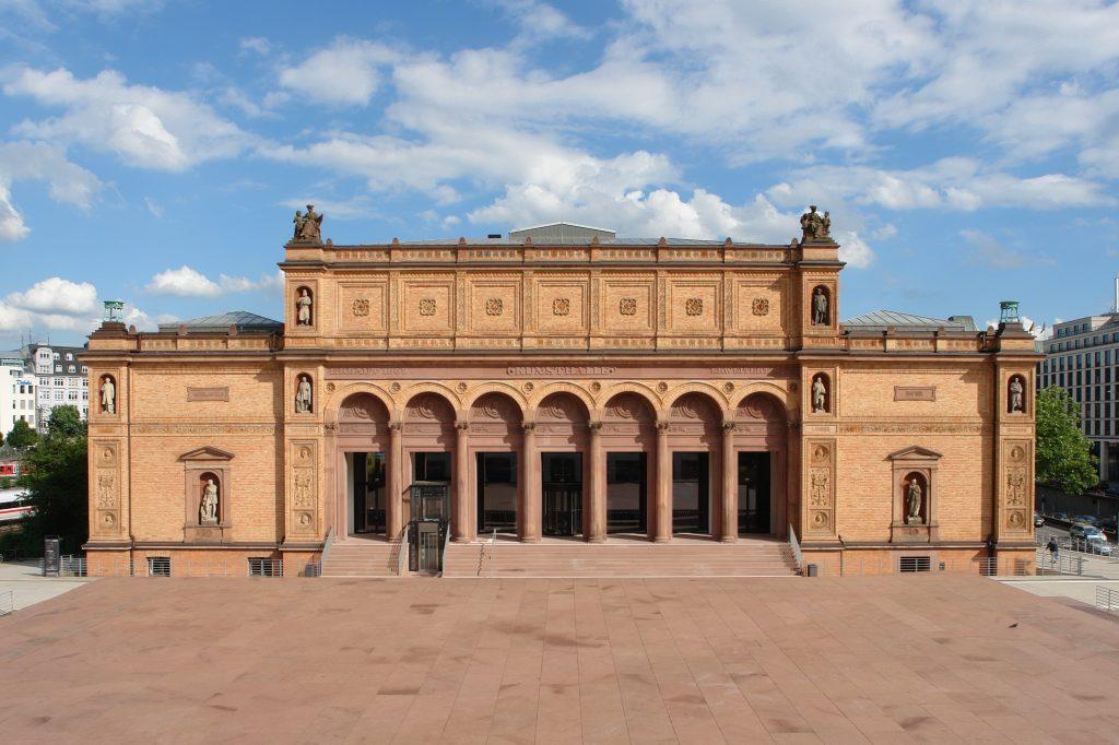 Außenansicht des neu erschlossenen Eingangsportals der Hamburger Kunsthalle © Hamburger Kunsthalle. Foto: Ralf Suerbaum