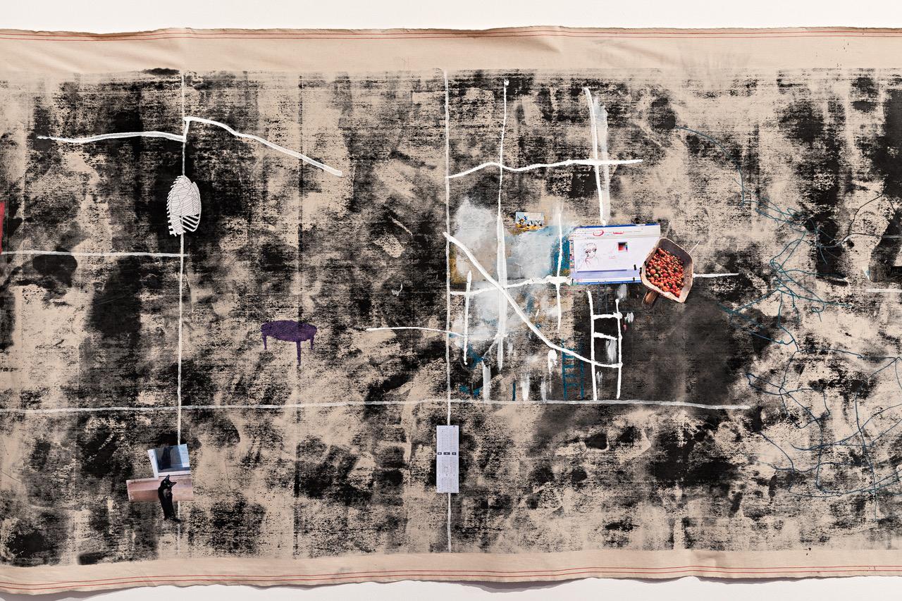 Eine Collage der Künstlerin Sarah Abu Abdallah