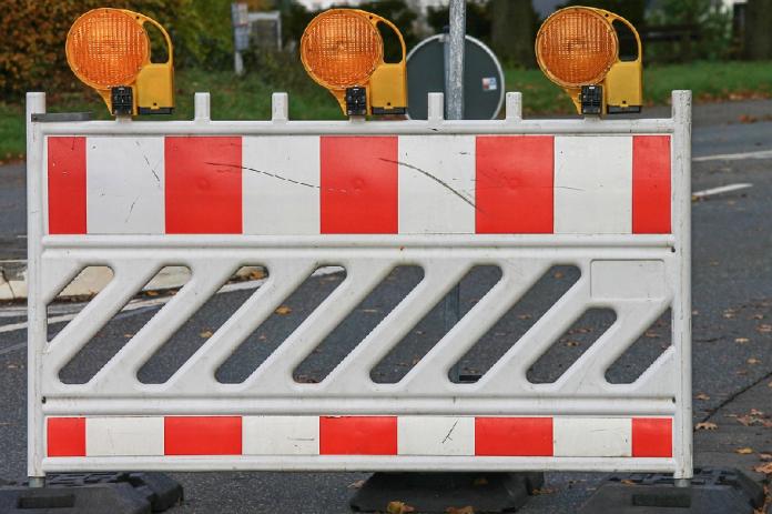 Straßensperrung in Bergedorf