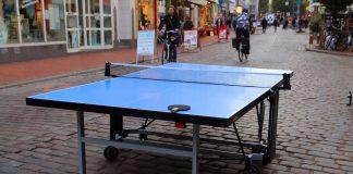 Eine Tischtennisplatte in Ottensen