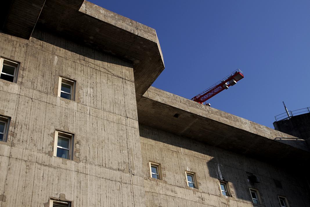 Der Bunker von unten. Foto: Max Nölke