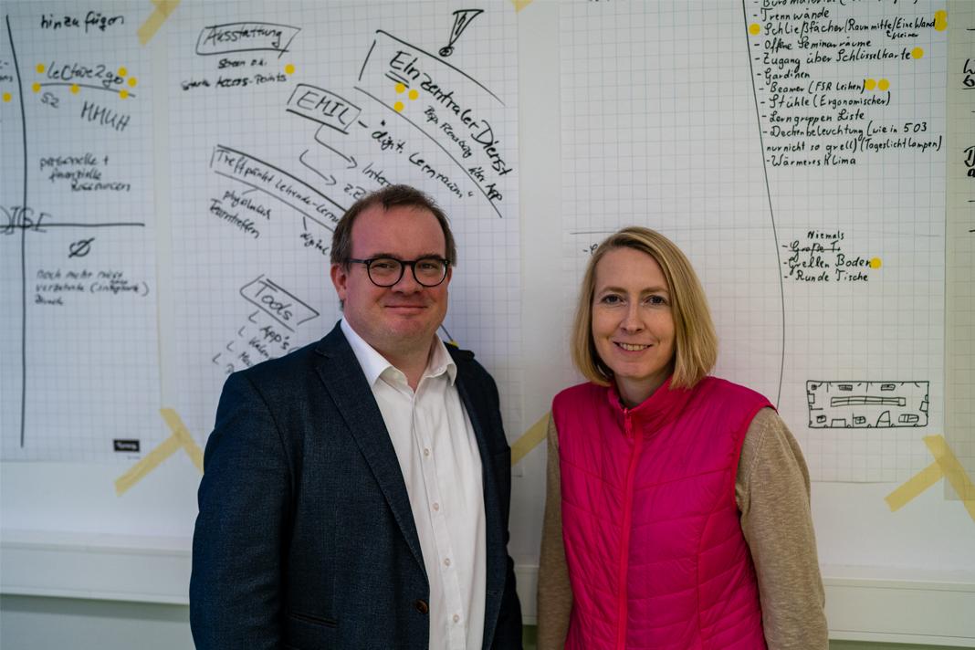Prof. Dr. Enno Stöver und Katrin Schillinge im Portrait.