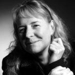 Ein Schwarz-Weiß-Porträt von Manuela Küchenmeister.