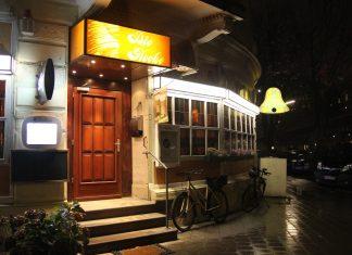 Frontale Außenansicht auf das Restaurant die Glocke im Stadtteil Hoheluft.