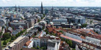 Hamburg aus der Luft fotografiert
