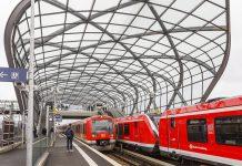 S-Bahn-Station Elbbrücken Ansicht der Gleise.