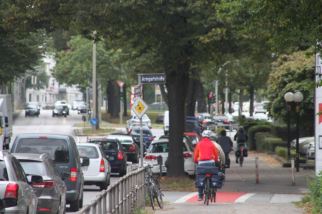 Fahrradweg Hamburg