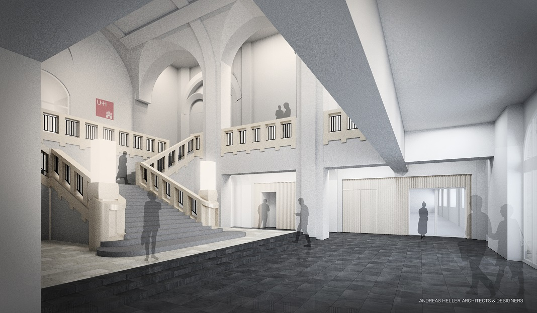 Visualisierung des neuen Campus der Uni Hamburg.