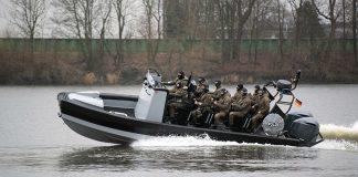 Erstes Schnellboot für SEK der Polizei Hamburg.