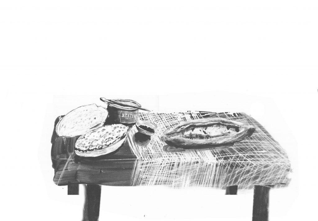 """Eine Illustration für """"Flucht aus Vietnam"""" von Jasper Zschörnig."""