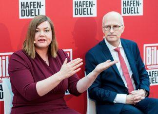Bürgerschaftswahl Hafen-Duell Peter Tschentscher SPD Katharina Fegebank Grüne
