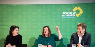 Pressekonferenz von Annalena Baerbock, Robert Habeck und Katharina Fegebank in Hamburg.
