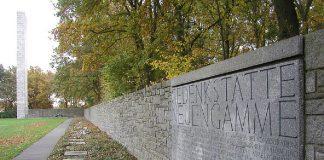 Die Gedenktafel des KZ Neuengamme. Hier soll künftig ein Ort der Verbundenheit entstehen.