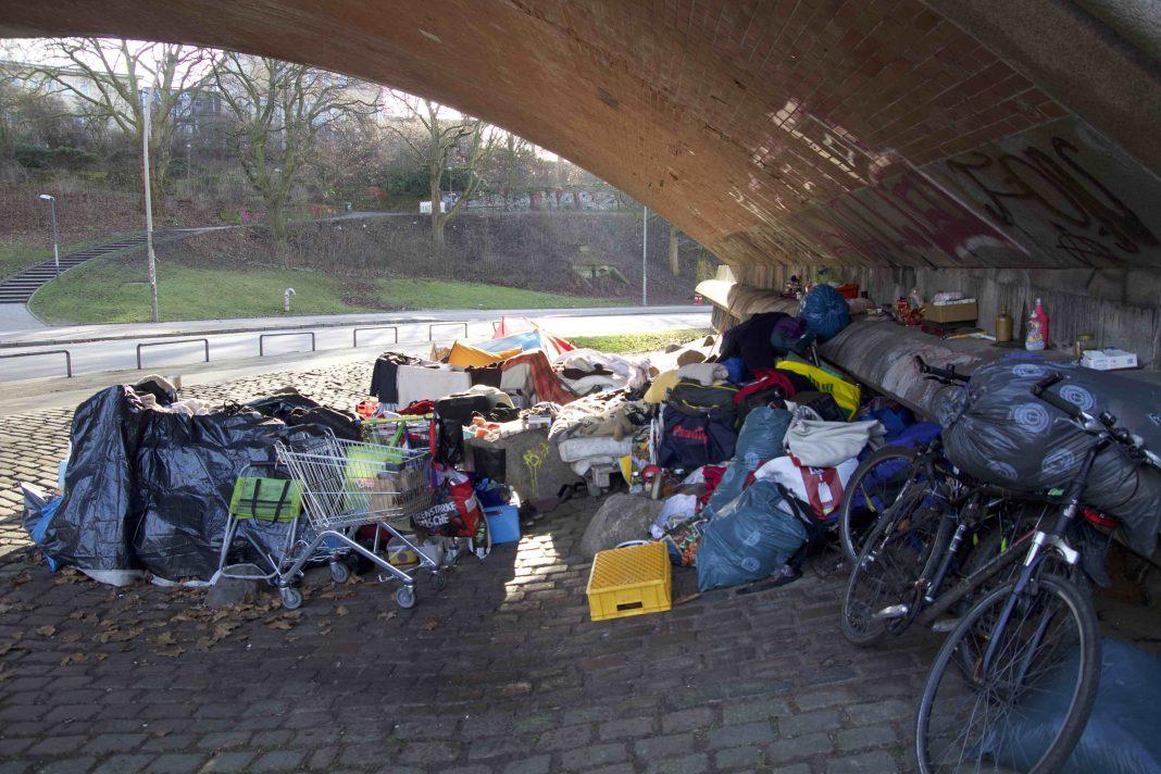 Obdachlose Hamburg Obdachlosenhilfe Obdachlosenschlafplatz St. Pauli