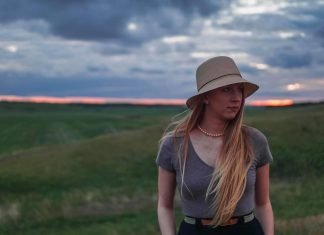 US-Studentin Shalom Baer im ländlichen North Dakota.
