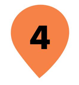 Zahl 4 in orangenem Kreis