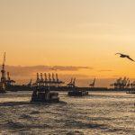 Hamburger Hafen Sonnenuntergang