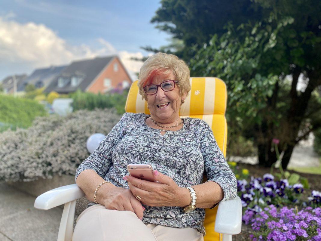 Corona und Einsamkeit: Seniorin Margret Schröder fühlt sich nicht allein.