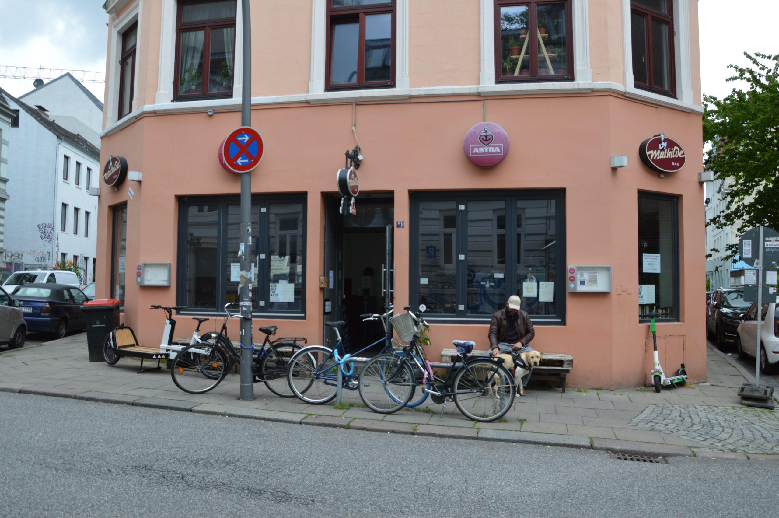 Fassade der Mathildebar in Ottensen