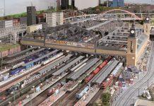 Der Hauptbahnhof Hamburg im Miniatur Wunderland bei Tag