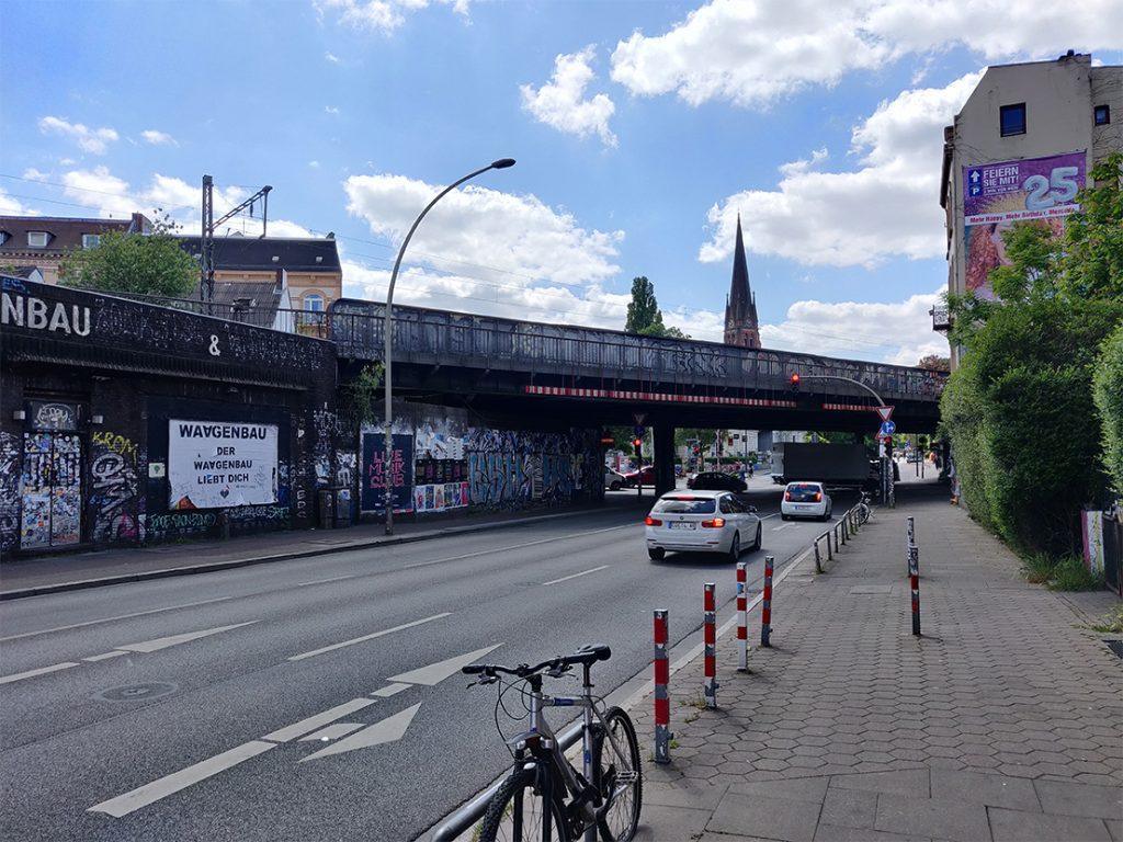 Die Sternbrücke in Hamburg-Altona sorgt für viel Gesprächsstoff. Foto: Jonathan Schanz