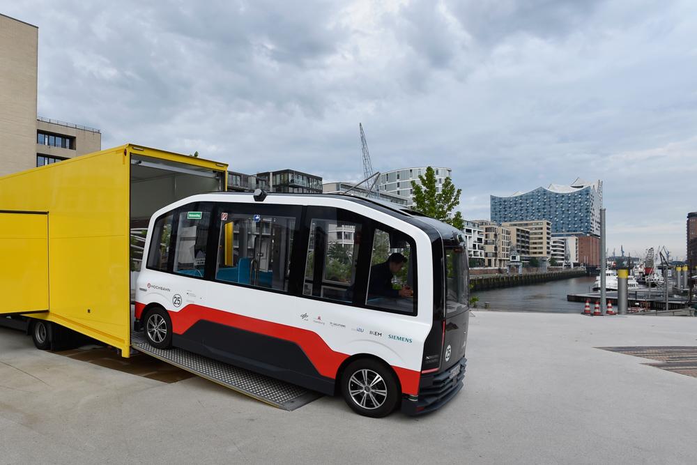 Autonomer Bus der Hochbahn