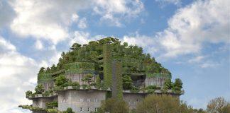 """Der """"Medienbunker"""" mit fünf neuen grünen Etagen"""