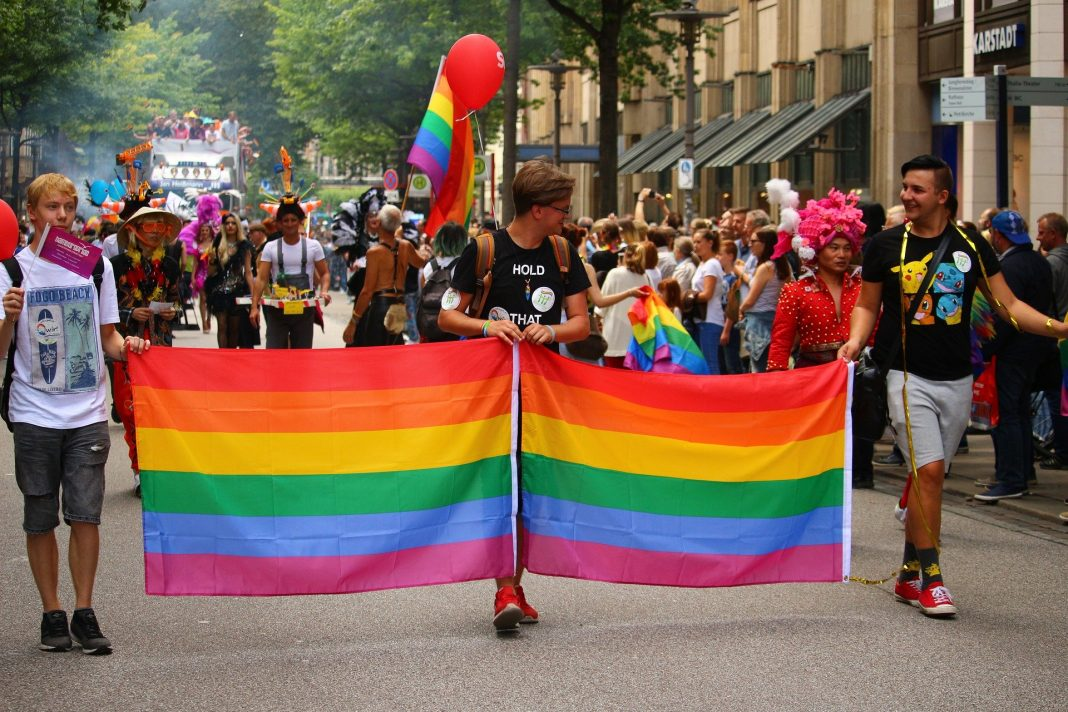 Christopher Street Day Parade in Hamburg