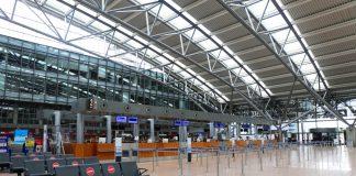 Der Hamburger Flughafen ist leer.