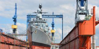Schiffbau in Werft Blohm und Voss