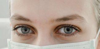 Pflegeberufe augen und maske