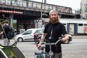 Marco Hosemann auf der Bike-Lane an der Sternbrücke