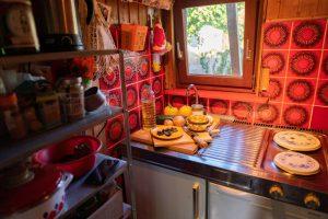 Klein aber fein: Die Küche im Schrebergarten