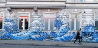 Philipp Kabbe, Graffito an einer Häuserwand in Hamburg-Ottensen