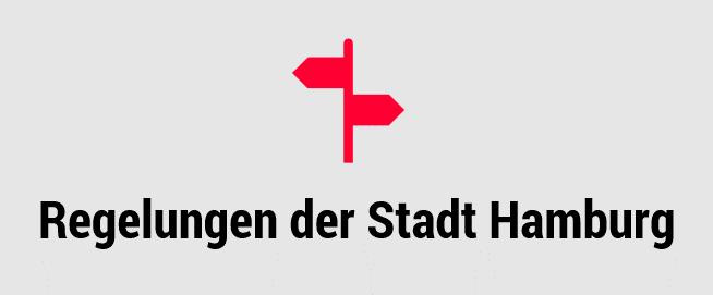 Externer Link zu den Corona Regelungen der Stadt Hamburg. Grafik: Pia Röpke