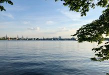 An der Alster in Hamburg