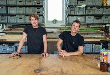 Felix und Marc in ihrem Atelier