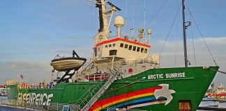 Das Aktionsschiff der Greenpeace Organisation