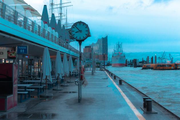 Leerer Hamburger Hafen