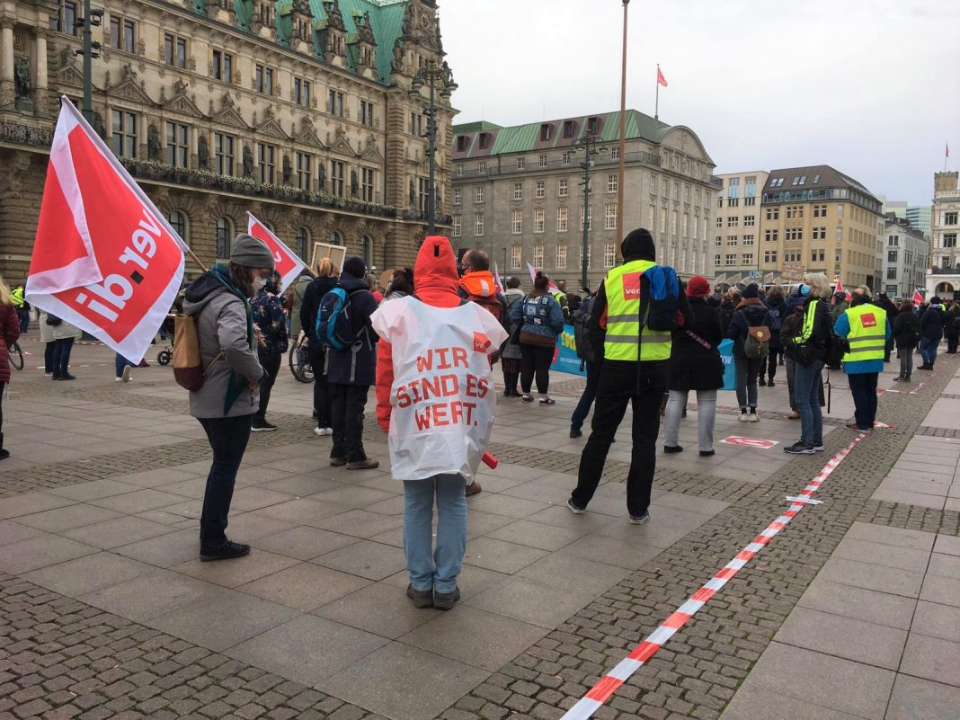 Warnstreik in Hamburg
