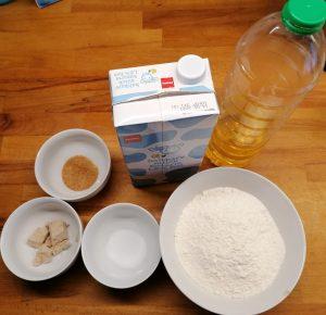 Zutaten für Lángos wie vom Weihnachtsmarkt