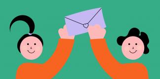 Briefaktion, Worte schenken, Briefe schreiben Teaser Illustration