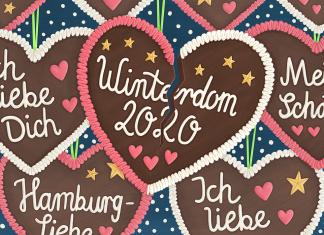 Gebrochenes Winterdom-Lebkuchenherz, Illustration: Ruby Warnecke