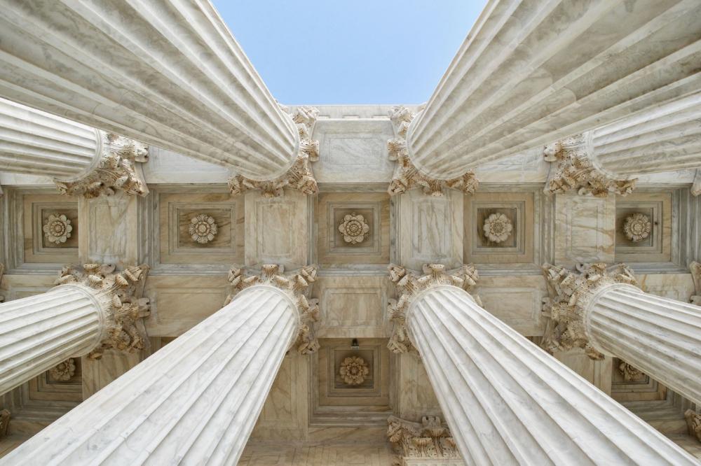 Wahlkampf: Der Streit der Präsidentschaftswahl im Jahre 2000 zwischen Al Gore und George W. Bush ging vor den Supreme Court.